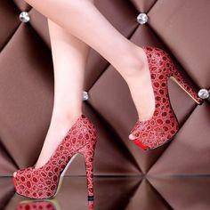US$ 59 Womens Sexy Peep Toe Slip On High Heel Platform Pumps Wedding Bridal Court Shoes Court Shoes, Platform Pumps, Peep Toe, High Heels, Slip On, Bridal, Sexy, Wedding, Women