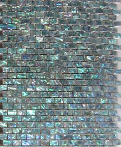 Green Abalone paper Shell Mosaic Tile on Mesh with Ceramic Tile Base,backsplash,. Tv In Bathroom, Mosaic Bathroom, Ceramic Floor Tiles, Mosaic Tiles, Ceramic Tile Backsplash, Glass Tiles, Tiling, House On The Rock, Tiny House