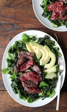 Juicy Steak, Kale, and Avocado Team Up For a Triple-Threat Salad