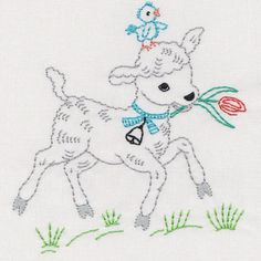 Vintage Garden Animals And Friends Colorwork - Embroidery Playground | OregonPatchWorks