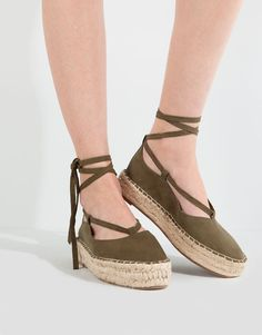 JUTE BALLERINAS WITH TIES - NEW PRODUCTS - NEW PRODUCTS - PULL&BEAR Turkey