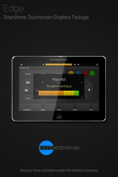 Home Theater, Smarthome / Home Automation Touchscreen Remote Control  Graphics By NTDesigns