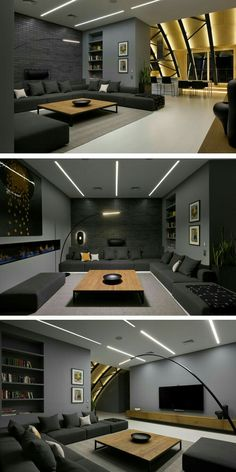 Game room😉 More ideas below: DIY Home theater Decorations Ideas Basement Home theater Rooms Red Home theater Seating Small Home theater Speakers Luxury Home theater Couch Design Cozy Home theater Projector Setup Modern Home theater Lighting System Home Theater Lighting, Home Theater Rooms, Home Theater Seating, Home Theater Design, Interior Lighting, Home Hall Design, Home Theater Furniture, Hall Interior, Home Theater Speakers