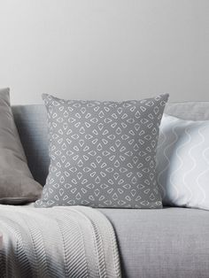 """Ultimate Gray #1"" Throw Pillow by Kettukas 