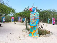 Lovely art gallery in and around Landhuis Jan Kok - Curacao