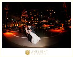 #Sandpearl #Resort #Tampa #Clearwater #beach #FL #Wedding #Limelight #Photography #night #dip #kiss #bride #groom
