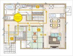 「ウォークスルーパントリー」の画像検索結果 Craftsman Floor Plans, House Floor Plans, Japanese Interior, Japanese House, Home Interior Design, Sweet Home, New Homes, Layout, Flooring