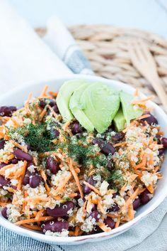 Recept: Vullende rode bonen wortel salade met dille