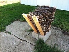 Cool way to stack wood