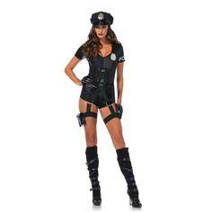 Flirty Five-O Cop Damen-Kostüm von Leg Avenue Polizistin Police Officer sexy Sexy Cop Costume, Costumes Sexy Halloween, Police Officer Costume, Trendy Halloween, Cool Costumes, Adult Costumes, Costumes For Women, Costume Ideas, Sexy Dresses