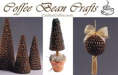 Yummy coffee bean crafts over on CraftsnCoffee.com. For the coffee fanatic in your life!
