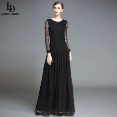 Slim Black Dress Autumn Women 3/4 Sleeve Florid Embroidery Dress Vestidos Love it? www.storeglum.com... #shop #beauty #Woman's fashion #Products
