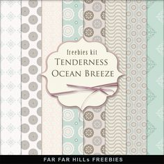 Far Far Hill - Free database of digital illustrations and papers: New Freebies Kit of Paper - Tenderness Ocean Breeze