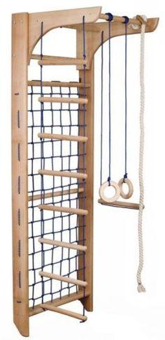 Kinder Kletterwand Piccolo 8 240 Sprossenwand Turnwand Klettergerüst MIT Netz | eBay