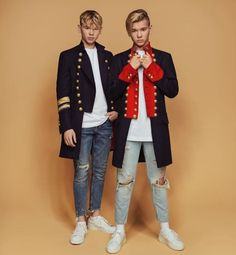 30 Days Idol Challenge {Marcus & Martinus G. Marcus Y Martinus, Love Twins, Boy Fashion, Fashion Outfits, Bars And Melody, Gym Workout For Beginners, Twin Brothers, Big Love, Kawaii Girl