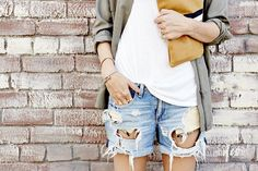 Distressed Boyfriend Jeans are a must have summer item!