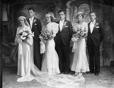Wedding | 1937 | #vintage #1930s #wedding