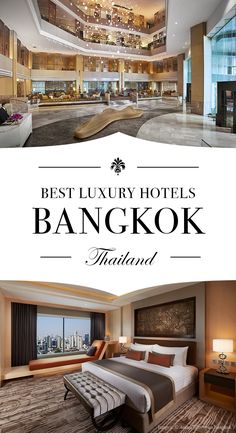 Travel in style and stay at one of these three luxury hotels in Bangkok, Thailand.