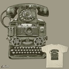 THE FIRST SMART PHONE by NARNIAZ on Threadless /// https://www.threadless.com/designs/the-first-smart-phone-3?c=3815497
