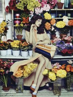 "✿⊱╮Flower fashion lady ""Flower House"": Hyun Yi Lee by Sang Gon Kim for Vogue Korea March 2013"