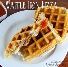Waffle Iron Pizzas -- Jodie did these for a date and said they were so fun and yummy must try!