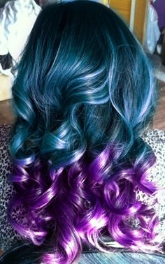 Purple & Turquoise hair!  I'd do this if my job allowed it.