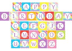 Printable Banner Happy Birthday in Green and by EspeciallyPaper ...