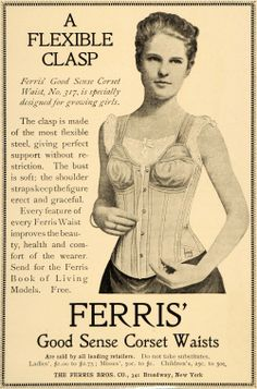 1900 advertisements | Details about 1900 Ad Ferris Corset Waist Clothing Fashion No 317 ...
