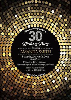 30th Birthday Party Invitation. Women. Elegant. by soardandelion