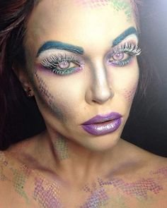 57 Best Gorgeous And Eye-catching Mermaid Makeup Inspirational For Party - Page 49 of 57 - Marble Kim Design