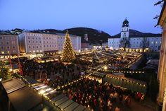 Salzburger Christkindlmarkt, blaue Stunde,  Salzburg, 20091128, foto: wildbild