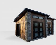 Plan gratuit pour construire un cabanon brico pinterest - Plan cabanon contemporain ...