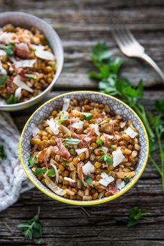 lenticchie con cipolle, pecorino e prosciutto di Norcia ©Silvia Censi