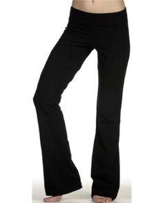 DCS Cotton Spandex Full Length Dance Workout Pant (X-Large, Black
