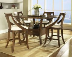 5-pc Gatsby Counter Height Square Table Dining Room Set