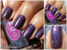 Plum Perfect from Cupcake Polish is a plum purple linear holographic polish. Shown in two coats plus top coat. Shown in sunlight, lightbox and macro.  #cupcakepolish #swatch #holo #holonails #holographicnails #holographic #macro #nails #nailart #nailsart #naildesign #naildesigns #cutenails #nailartaddict #nailartist #nailsdid #nailsoftheday #nails2inspire #nailswag #nailfashion #nailpolish #nailpolishaddict #mani #manicure #nailpromote #nailstyle #nailartoohlala #nailartwow #nailartclub