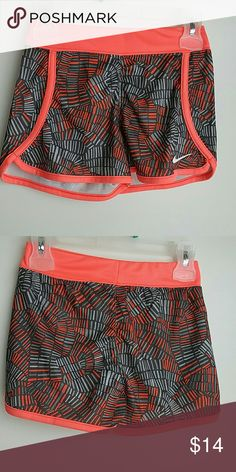 NWOT Nike shorts little girls size 6 Peach and gray nike shorts Nike Bottoms Shorts