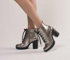 Silver - Salto - Coturno - Style - Ref. 17-1401