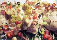 mediterranean diet recipes | Mediterranean Diet & Recipes / Chicken with Artichokes and Asparagus