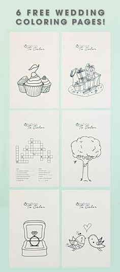6 Free Kids Coloring Sheets for Weddings                              …