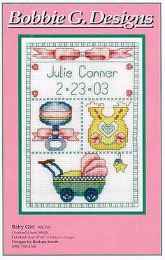Baby Girl Birth Announcement by JessecaLynn78 on Etsy, $25.00