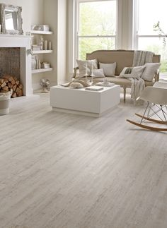 Karndean wood flooring - White Painted Oak by @KarndeanFloors available from Rodgers of York #flooring #interiors