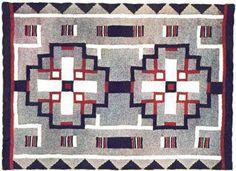 Navajo Indian Afghan Vintage Crochet Pattern by karensvariety