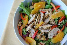 Eat Yourself Skinny!: Grilled Honey-Orange Chicken Salad (7pts+ Weight Watchers, 273 calories)
