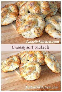 Cheesy soft pretzels (video recipe) - isabell's kitchen
