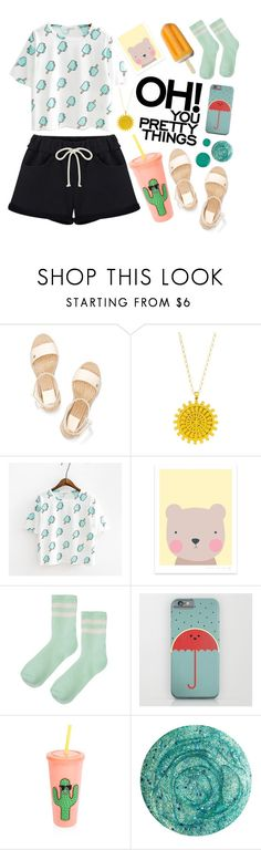 """""""sunday morning"""" by rumpelkiste ❤ liked on Polyvore featuring Tory Burch, Dogeared, Topshop, Sunnylife, Deborah Lippmann and China Glaze"""