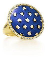 #tiffany.com              #ring                     #Tiffany #Paloma's #Venezia #Stella #ring #gold #with #blue #enamel #diamonds.                          Tiffany & Co. - Paloma's Venezia Stella ring in 18k gold with blue enamel and diamonds.                                           http://www.seapai.com/product.aspx?PID=515364