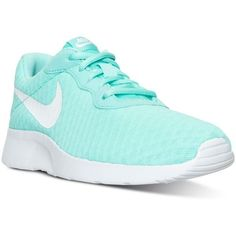 Nike Women's Tanjun Se Casual Sneakers from Finish Line ($65) ❤ liked on Polyvore featuring shoes, sneakers, nike, nike shoes, nike sneakers, nike footwear and nike trainers