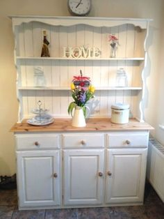 Also want to paint my existing dresser Stunning Shabby Chic Pine Welsh Dresser Annie Sloan Original **Reduced to Pine Furniture, Country Furniture, Distressed Furniture, Shabby Chic Furniture, Furniture Movers, Furniture Chairs, Refurbished Furniture, Plywood Furniture, Country Decor