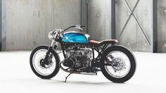 Blue BMW boxer
